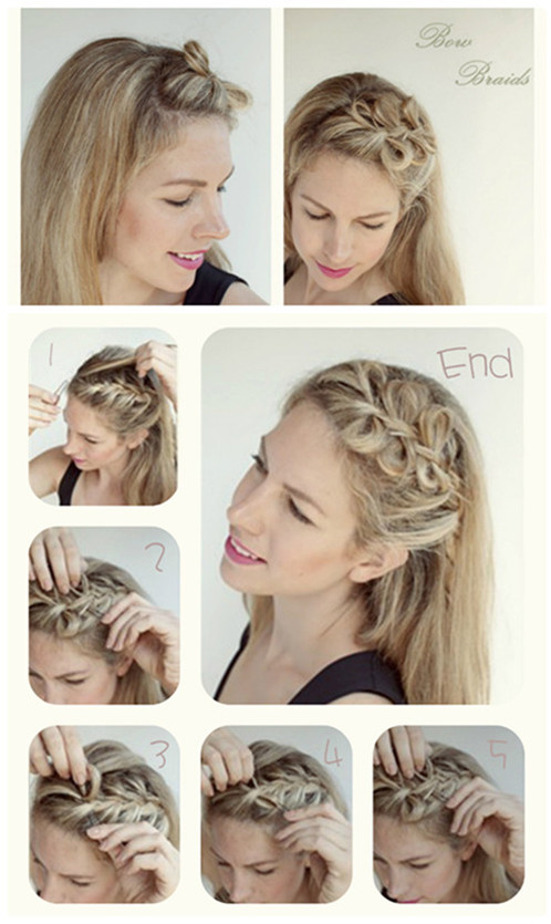 cute-bow-braids-hair-style-for-long-hair-tutorial