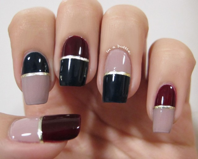 15 lovely color block nail designs that you have to try. Black Bedroom Furniture Sets. Home Design Ideas