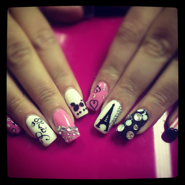 image via youmeeverything.wordpress.com ... - I Love Paris Nail Art Designs