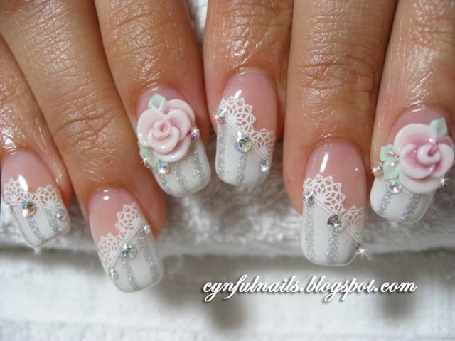 satisfying-wedding-nail-art-designs