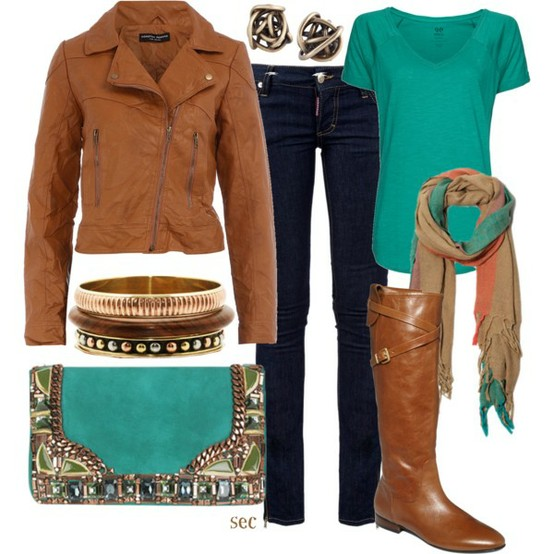 15 Cute Polyvore Combinations With Leather Jackets For This Fall