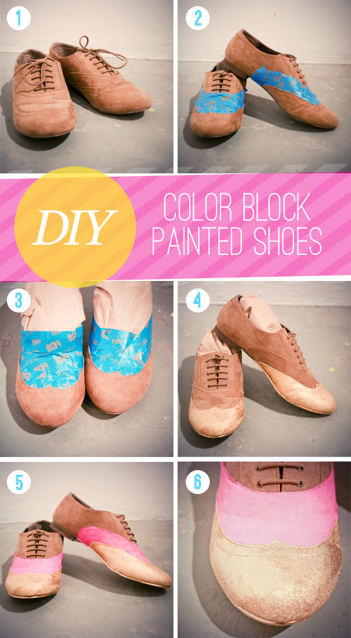 DIY-color-block-painted-shoes