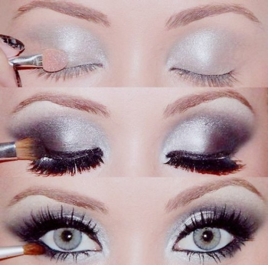 Smokey-Eye-Makeup-Photo-Tutorial.-Smokey-Eyes-Bridal-Makeup.-Smokey-eye-shadow.-550x544