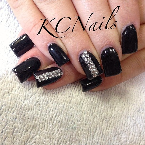 black-acrylic-nails-with-diamondspin-by-abby-greider-on-nails-pinterest-mdggnegd