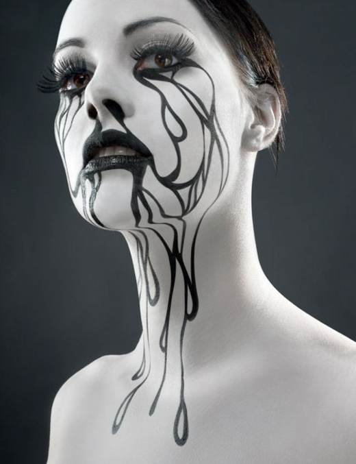 halloween makeup painting scary body amazingly paint face creative fashionista every creepy painted cool faces tears awesome easy corpse facepaint
