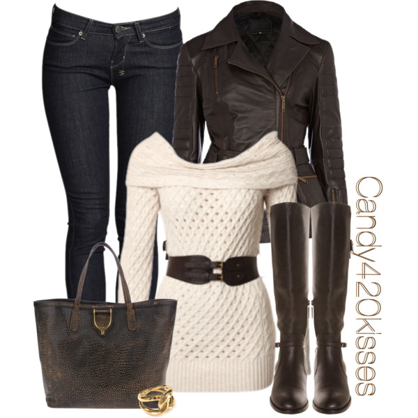 nice leather jacket outfits polyvore girls