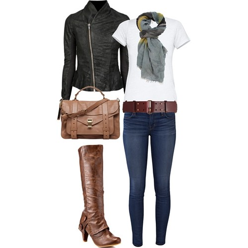 brilliant polyvore outfits leather jacket 10