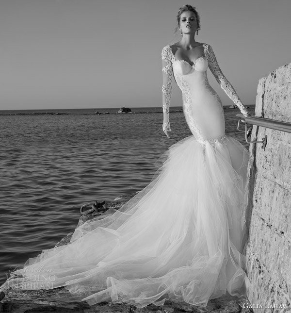galia-lahav-wedding-dresses-spring-2015-tulia-long-sleeve-gown-full-tulle-skirt-front-view
