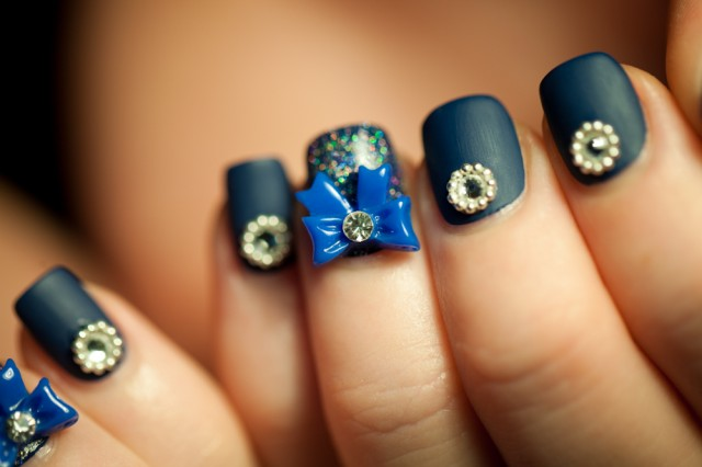general-extraordinary-black-nail-polish-with-gold-diamond-and-blue-bow-nails-designs-with-diamonds