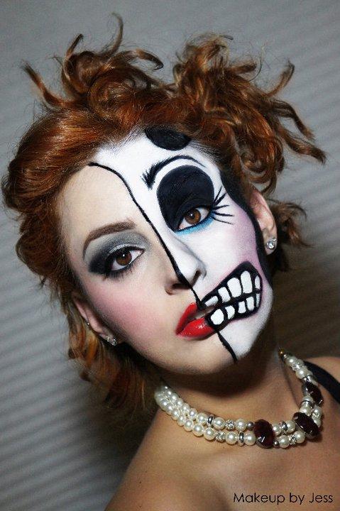Макияж девушки на хэллоуин фото