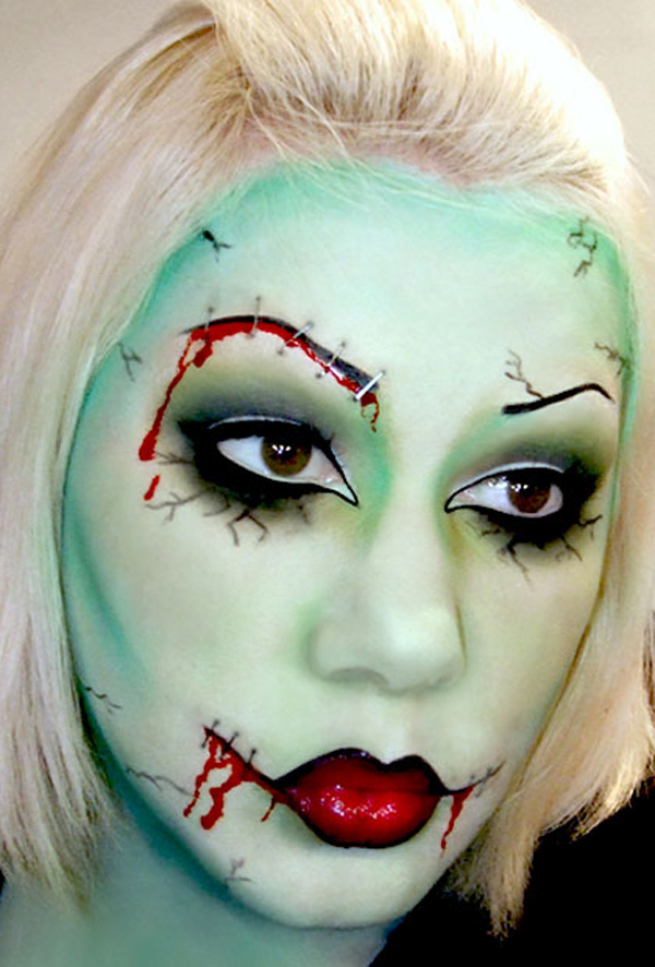 15 Scary And Unique Halloween Makeup Ideas - Cool Makeup Halloween Costumes