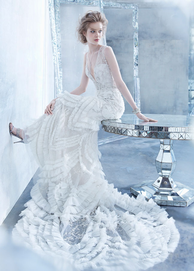 Outstanding Bridal Gown Fall 2014 Collection by Lazaro