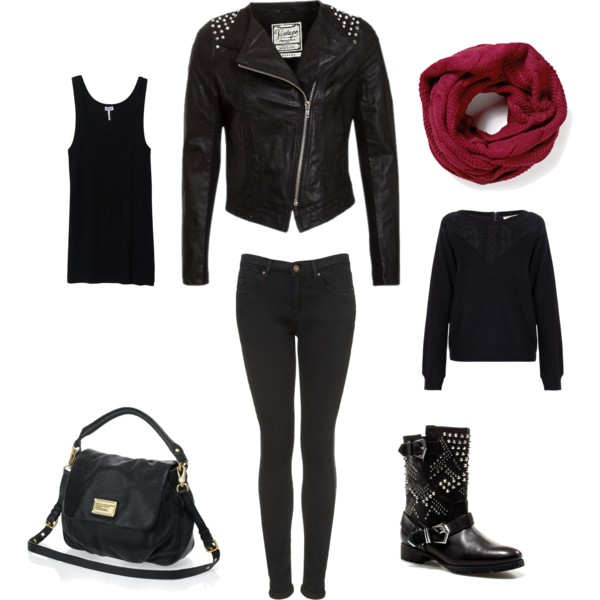 nice leather jacket outfits polyvore size