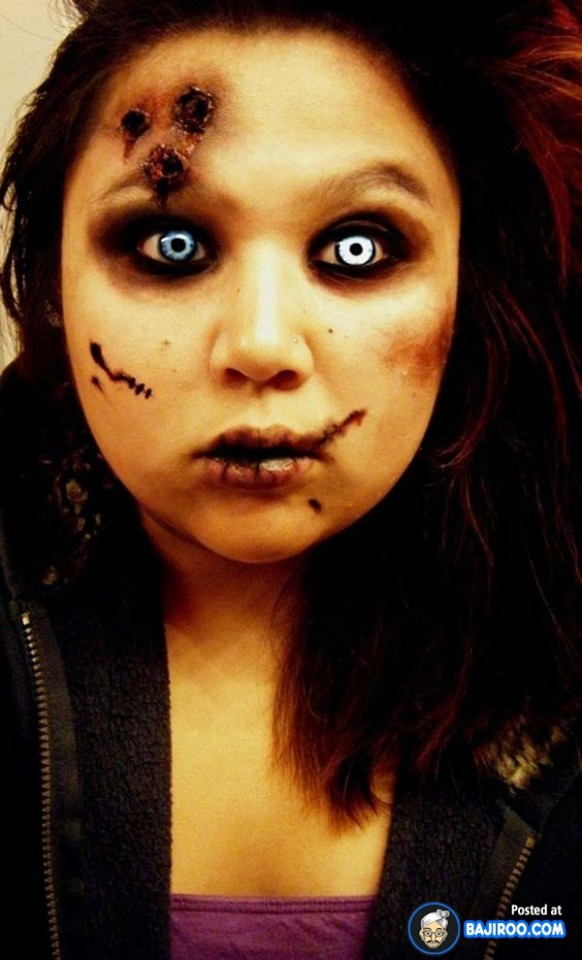 15 scary and unique halloween makeup ideas