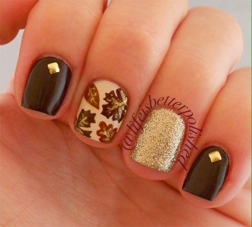 Cool Nail Designs For Fall: 16 Outstanding Fall Inspired Nail Arts