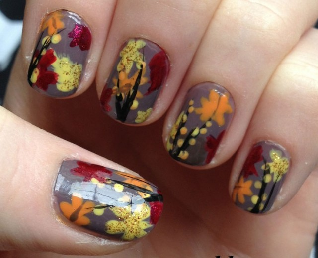 16 outstanding fall inspired nail arts