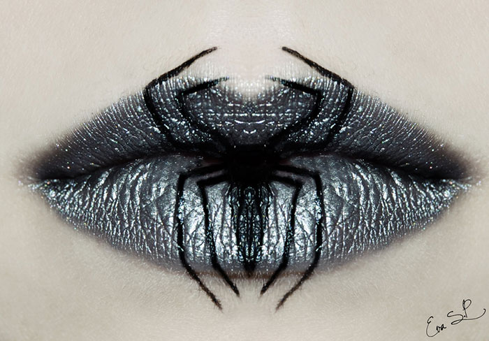 Creepy Halloween Lip Designs By Eva Senín Pernas