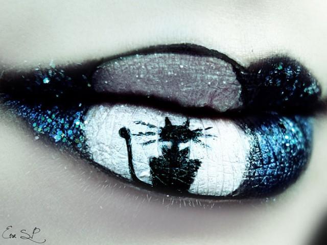 Creepy-Halloween-Lip-Art-by-Eva-Senín-Pernas-03