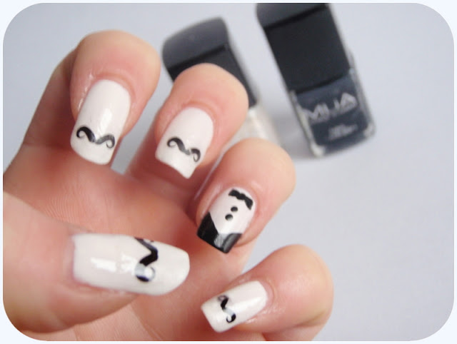 Movember Inspired Nail Art Designs