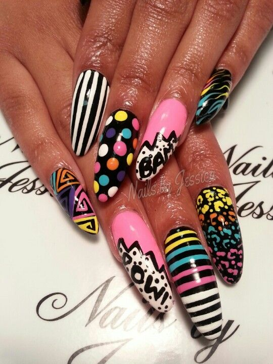 Pinterest-Almond-Nails-design