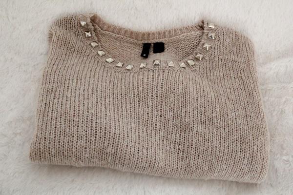 Studded Sweater DIY Folded