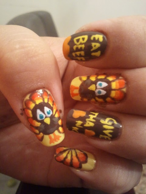 Inspiring Thanksgiving Nail Designs