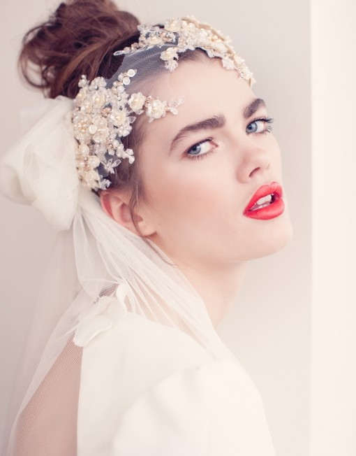 Make a Statement with Jannie Baltzer's Wedding Headpieces