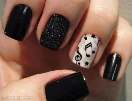 20618-Music-Note-Nails - Music Inspired Nail Designs