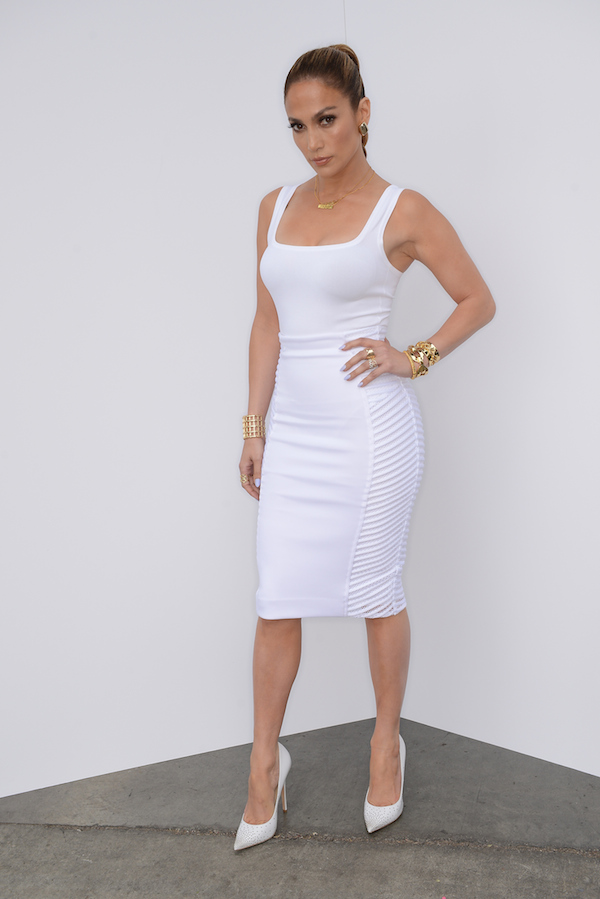 Jennifer-Lopezs-American-Idol-White-Azzedine-Alaia-Tank-Milly-Spring-2014-Pencil-Skirt-and-Jimmy-Choo-Pumps