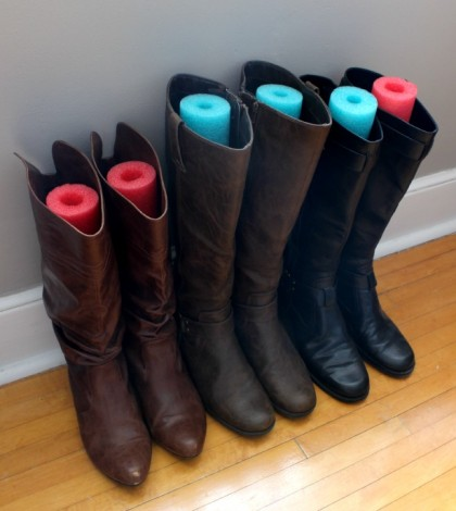 Put-pool-noodles-in-boots-so-they-dont-fall-over