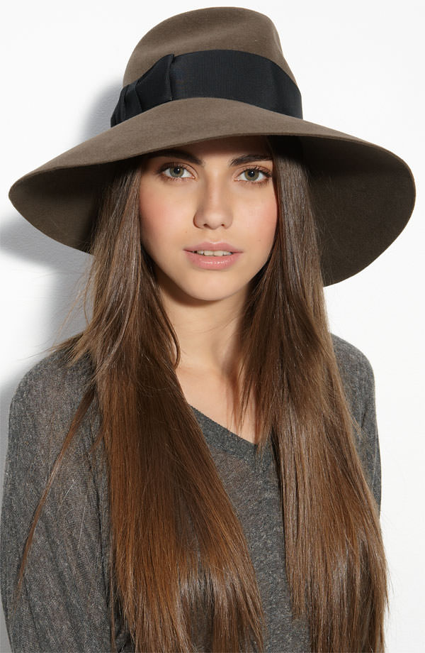 Hairstyles For Long Hair With Hats : Silky-long-hairstyle-with-long-hat