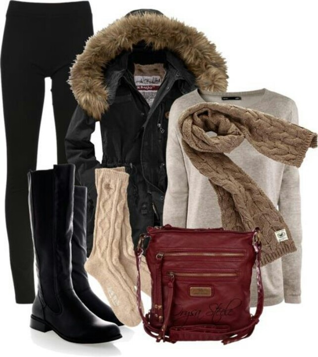 16 Casual Winter Polyvore Combos