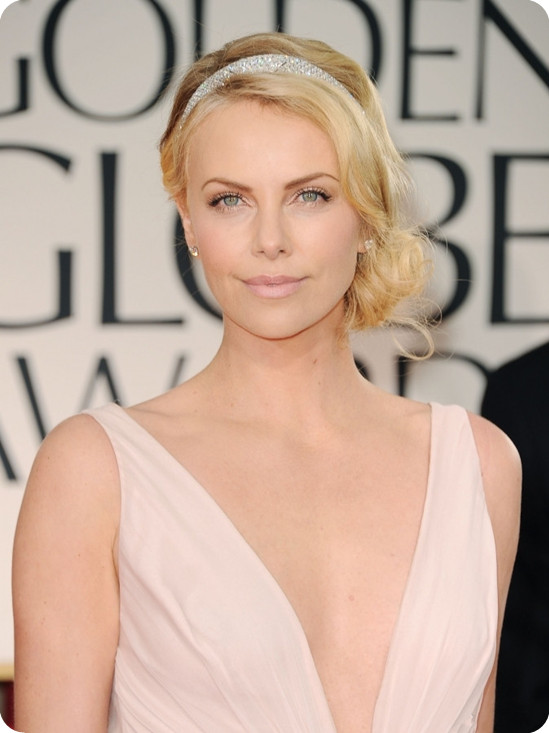 charlize-theron-side-fabulous-and-elegant-chignon