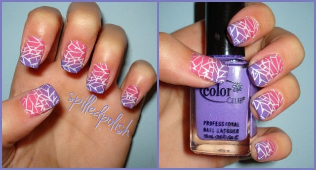 general-funky-purple-gradient-pink-nail-art-design-with-white-crackle-line-crackle-nail-designs