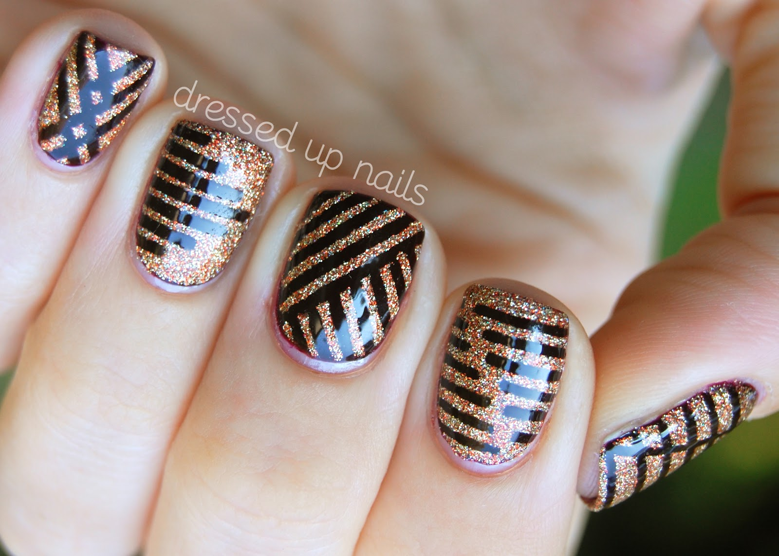 Striped Nails Tag Fashion Diva Design
