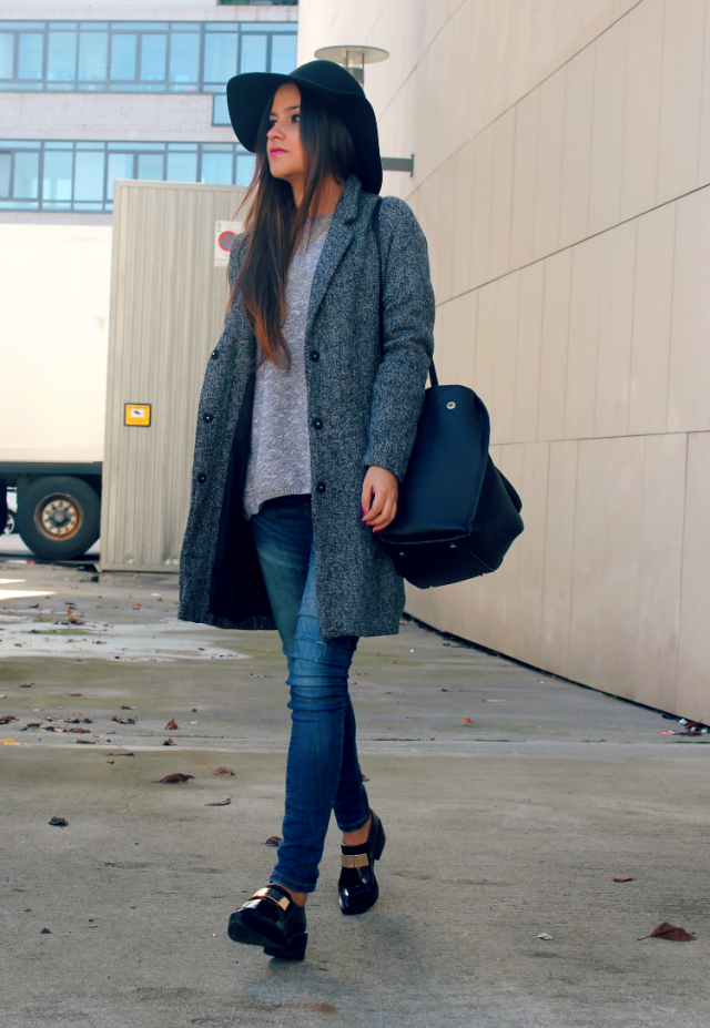 sheinside coat + hat