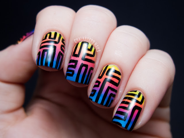 sunset-Gradient-Nail-art-for-summer