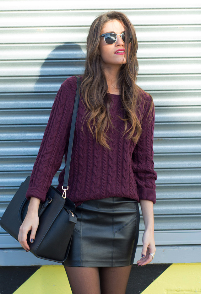 22 Stylish Ways to Wear Your Leather Skirt