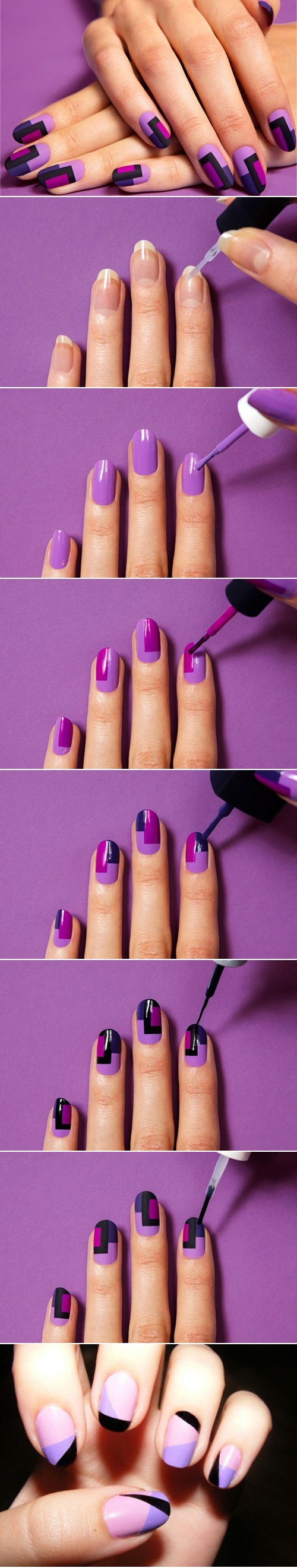 FANTASTIC DIY COLOR BLOCK NAIL DESIGNS