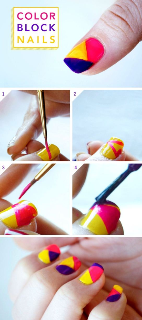 DIY-Color-Block-Nail-Art