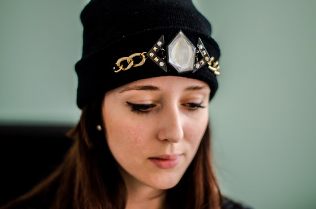DIY-project-easy-Do-It-Yourself-customize-beanie-hat-winter-fashion-trend-3