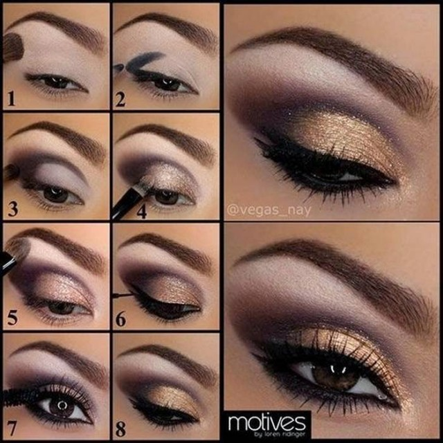 Golden Shades Eyeshadow Tutorial (2)