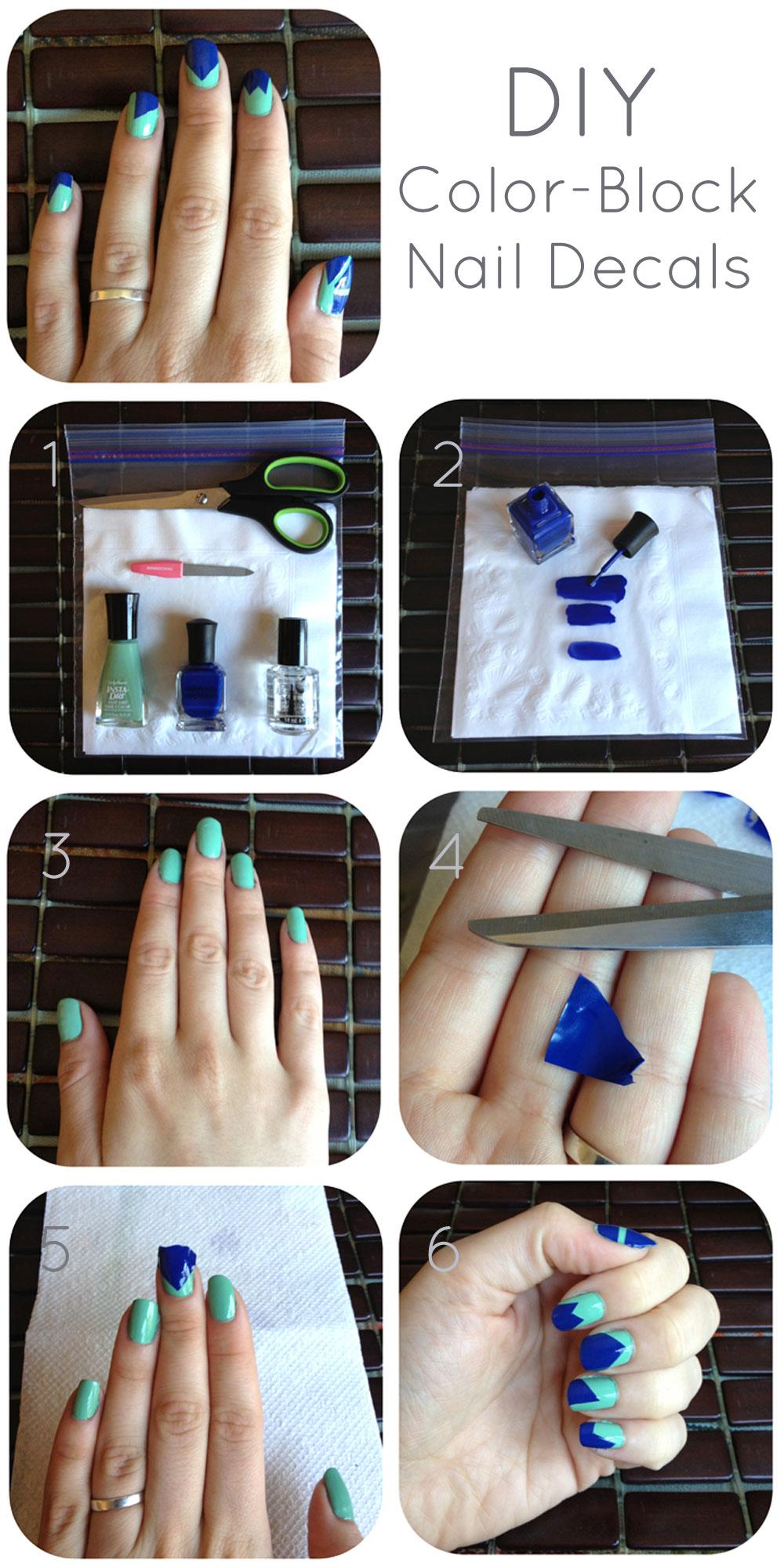 Fantastic diy color block nail designs solutioingenieria Gallery