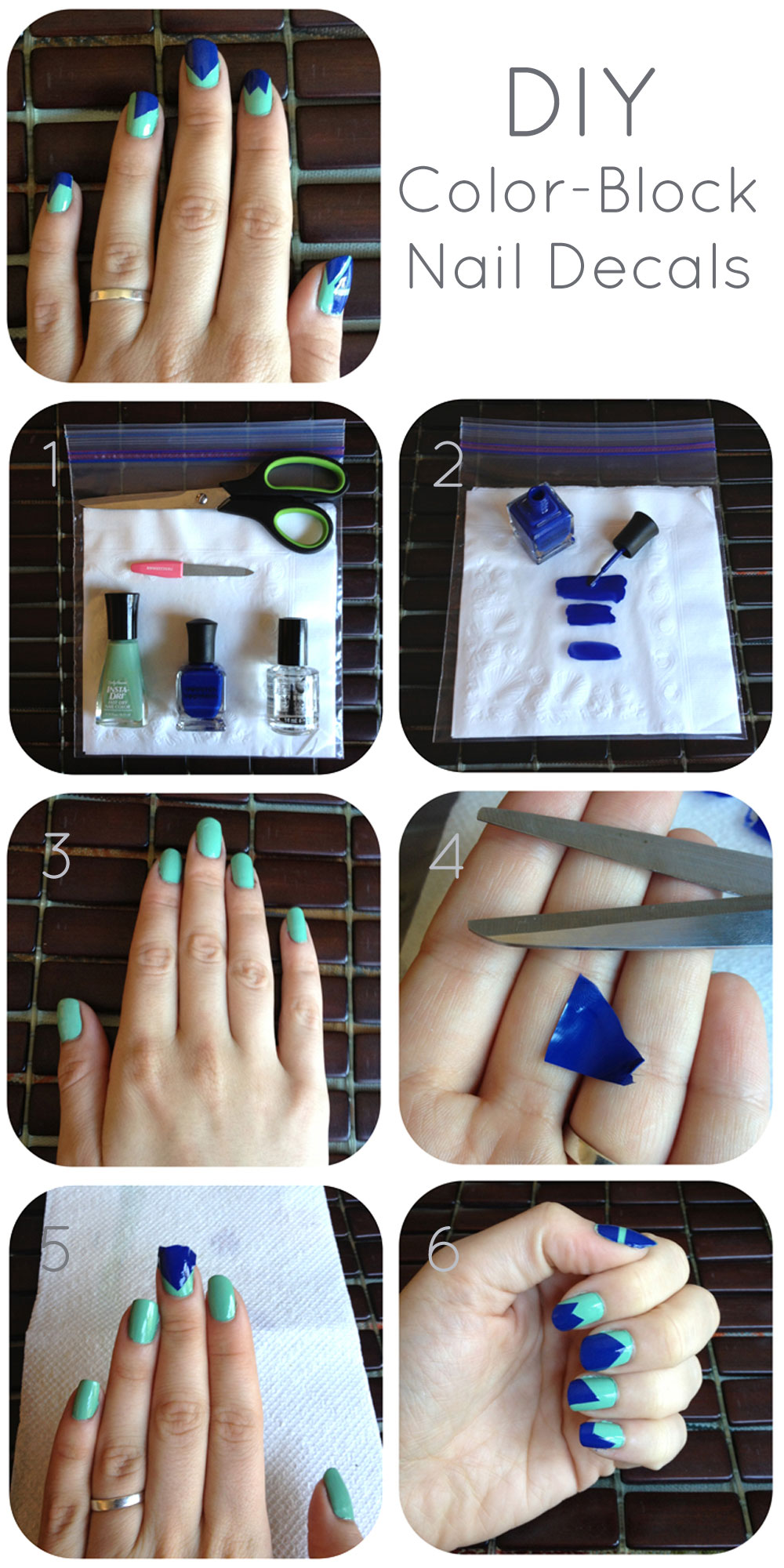 Fantastic diy color block nail designs solutioingenieria Choice Image