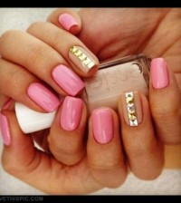 22739-Pink-Gold-Tan-Nails