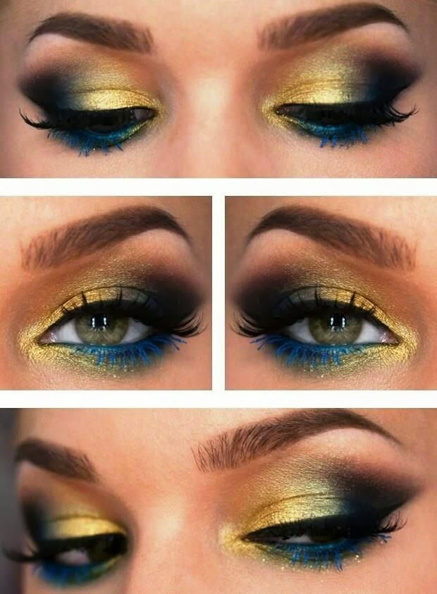 Fantastic Peacock Eye Makeup
