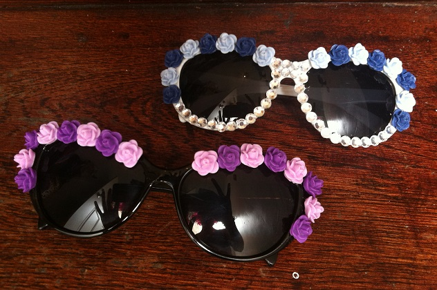 Easy-DIY-Flower-Sunglasses