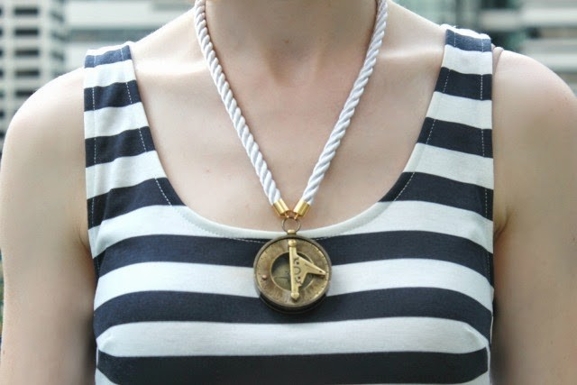 Nautical Necklace DIY After