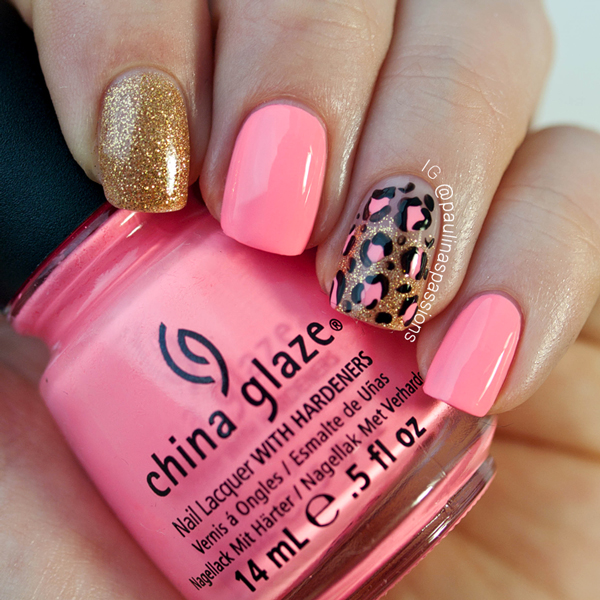 Pink and gold nail designs the nail collections 15 pink and gold nail art designs prinsesfo Choice Image