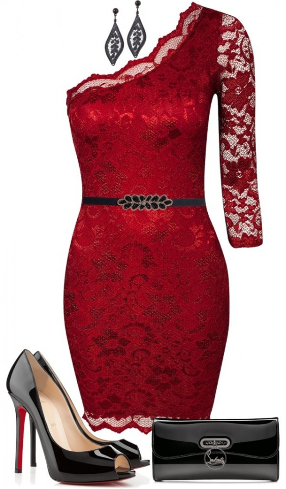 Polyvore-Valentines-Day-Casual-Red-Short-Long-Dresses-Ideas-For-Girls-Women-2014-3